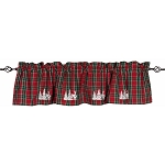 Festive Flannel Valance Red