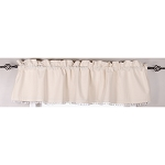 Homespun Pompom Valance Buttermilk