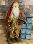 Arnett's Santa SIGNED 2021 Holding a Farmhouse and Ragdoll