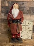 Arnett's Santa SIGNED 2021 Holding A Black Rag Doll and Candy Canes