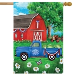 Sunshine Barn House Flag