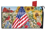 Betsy Ross Flag Mailbox Cover