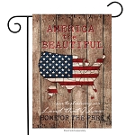 America the Beautiful Map Garden Flag