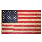 3' x 5' Tea Stained American Flag Embroidered Grommet Flag