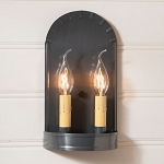 Arch Wall Sconce Light in Country Tin
