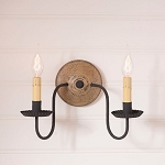 Ashford Wood Wall Sconce Light in Pearwood