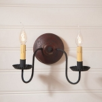 Ashford Wood Wall Sconce Light in Plantation Red
