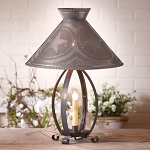 Betsy Ross Lamp with Star Shade in Kettle Black