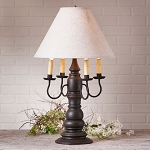 Bradford Lamp in Americana Black with Linen Ivory Shade
