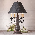 Bradford Lamp in Americana Espresso with Textured Black Tin Shade