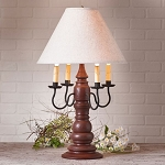 Bradford Lamp in Americana Red with Linen Ivory Shade