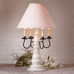 Bradford Lamp in Americana White with Linen Ivory Shade