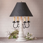 Bradford Lamp in Americana White with Textured Black Tin Shade