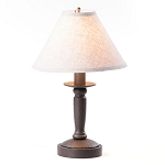 Butcher Lamp in Americana Black with Linen Ivory Shade