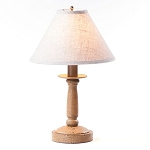 Butcher Lamp in Americana Pearwood with Linen Ivory Shade