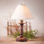 Butcher Lamp in Americana Red with Linen Ivory Shade