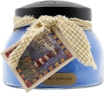 A Cheerful Giver Butterflies 22 oz Mama Jar Candle, Blue