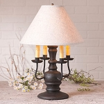 Cedar Creek Lamp in Americana Black with Linen Ivory Shade