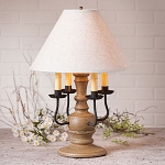 Cedar Creek Lamp in Americana Pearwood with Linen Ivory Shade