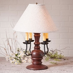 Cedar Creek Lamp in Americana Red with Linen Ivory Shade