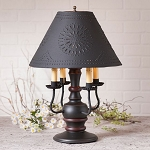 Cedar Creek Lamp in Sturbridge Black with Textured Black Tin Shade