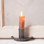 Country Window Moving Flame Electric Candle Accent Light in Blackened Tin