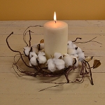 Pickin' Cotton 4.5in Candle Ring