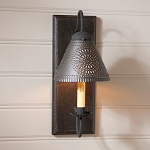 Crestwood Wood Wall Sconce Light in Black