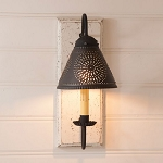 Crestwood Wood Wall Sconce Light in Vintage White