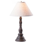 Davenport Lamp in Americana Black with Linen Ivory Shade