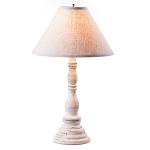 Davenport Lamp in Americana White with Linen Ivory Shade
