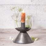 Donner Candlestick Moving Flame Electric Candle Accent Light in Blackened Tin