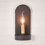 Fireplace Wall Sconce Light in Textured Black