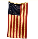 Betsy Ross Tea Stained American Flag, 3'x5'