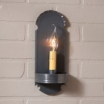 Foot Wall Sconce Light in Country Tin
