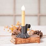Friendship Candle Accent Light in Black Tin