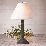 Gatlin Lamp in Hartford Back with Linen Ivory Shade