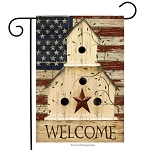 Americana Welcome Garden Flag