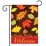 Fall Leaves Welcome Garden Flag