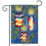 Patriotic Luminaries Garden Flag