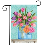 Fresh Cut Flowers Garden Flag