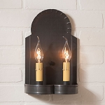 Hanover Double Wall Sconce in Kettle Black