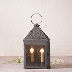 Harbor Lantern Accent Light with Chisel in Blackened Punched Tin