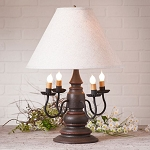 Harrison Lamp in Americana Espresso with Linen Ivory Shade