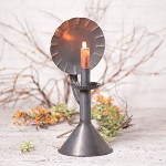 Hearthside Moving Flame Electric Candle Accent Light in Blackened Tin Reflector