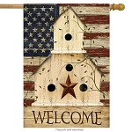 Americana Welcome House Flag