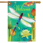 Dragonfly Dream House Flag