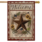 Autumn Welcome Barnstar House Flag