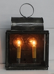 Bar Harbor Table Lantern Lamp Handmade Tin