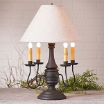 Jamestown Lamp in Hartford Black with Linen Ivory Shade
